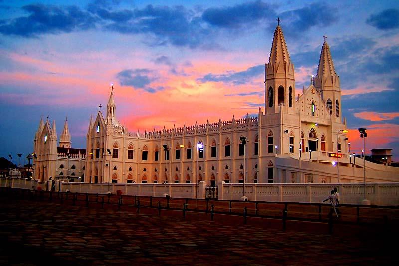 velankanni matha temple history